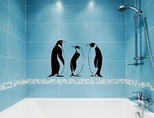 Wall Stickers Vinyl Decal Penguin Winter Animal Great Bathroom Decor (ig872)