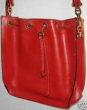 Attractive very Red Original Aigner bag with long sling