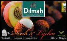 Dilmah Tee-PEACH & Lychee flavoured black Ceylon Tea 20 bustina del tè