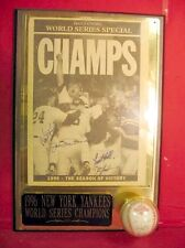 O'NEILL,BOGGS,TORRE,GOODEN AUTO'D 1996 NY YANKEE WORLD SERIES N. Y. DAILY NEWS