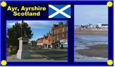 AYR, AYRSHIRE, SCOTLAND - SOUVENIR NOVELTY FRIDGE MAGNET - SIGHTS / FLAG / GIFTS