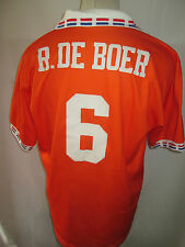 Holland Euro 1996 R De Boer 6 Home Football Shirt Size Large /34572