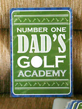 Number One Dad''s Golf Academy Sign--parking, man cave, gift, father's day
