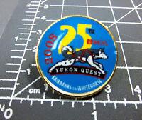 2008 Yukon Quest lapel Pin Dog Sled Race Whitehorse Yukon to Fairbanks Alaska