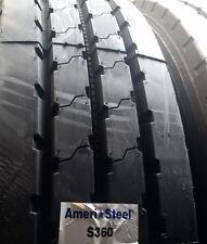 (8-Tires) 11R24.5 tires General S360 16PR tire 11/24.5 Ameri-Steel 11245 USA