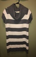 Women's Sweater Dress Plus Size 1X, Bobbie Brooks, Gray And White Striped