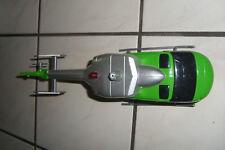 Dickie Polizei Hubschrauber i grün weiß als Ergänzung zum spielen mit Playmobil