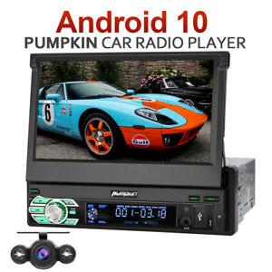 "Pumpkin 7"" Android 10.0 Autoradio Single 1 DIN GPS Navi Bluetooth DAB USB+Kamera"