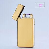 Electric Arc Plasma USB Recharge Flameless Windproof Cigarette Lighter JL602 Gld