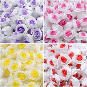 100 Pcs Large 3CM Artificial Flowers Foam Rose Heads Wedding Party Decor Bouque