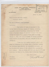 United Shoe Machinery Corporation 1927 letter signed Nelson B. Todd - Maine RR