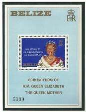 Belize - Queen Mother 80th Birthday - Mint NH Miniature Sheet