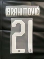 Flocage Name Set  #21  Zlatan Ibrahimovic Milan AC Domicile Home And Third