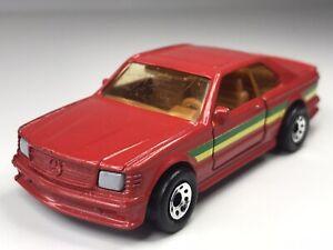Vintage 1984 Matchbox Superfast Mercedes Benz 500 SEC BP Oil Promo In Red Loose