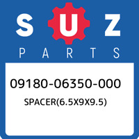 09180-06350-000 Suzuki Spacer(6.5x9x9.5) 0918006350000, New Genuine OEM Part