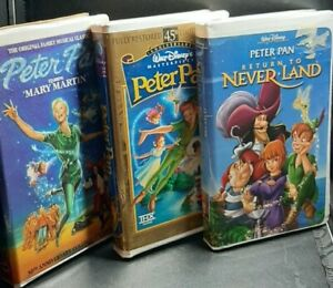 Peter Pan (3 VHS Lot #3) 30th & 45th Anniversary Edition, Return To Neverland