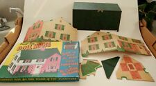 """Built-Rite Doll House Set No. 10 1/4"""" Scale for """"O"""" Gauge Trains with 1 room of"""