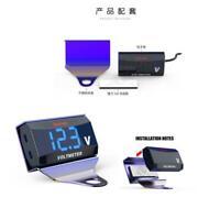 12V Digital LED Blue Display Voltmeter Voltage Gauge Panel Meter Car Motorcycle