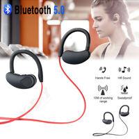 Waterproof Bluetooth 5.0 Earphones Sport Wireless Headphones In-Ear Headset HIFI