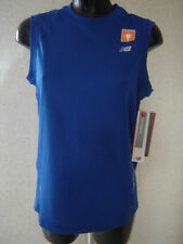 New Balance Polyester Sleeveless Activewear Vests for Men