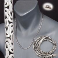 """4mm BALI BYZANTINE 925 STERLING SILVER MENS NECKLACE KING CHAIN 20 22 24 26 28"""""""