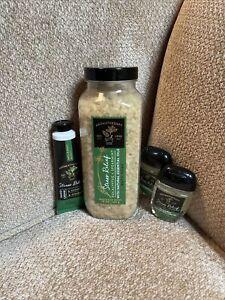 1 BATH BODY WORKS STRESS RELIEF EUCALYPTUS SPEARMINT BATH SOAK SALT Gift Set
