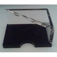 Jeter Support simple Pont Acrylique Transparent Base Noire