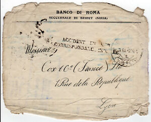 1921 accident / wreck / cover BEIRUT Syria Lebanon to France / Levant