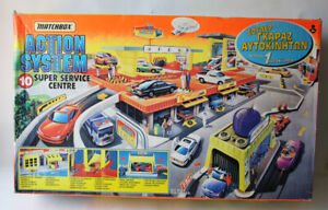 RARE VINTAGE 1996 MATCHBOX ACTION SYSTEM SUPER SERVICE CENTRE PLAYSET NEW MISB !