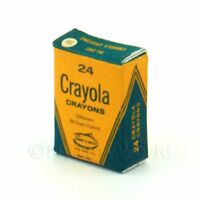 Dolls House Miniature Crayola Craons Box From 1970s