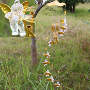 Wind Chimes Yard Gift Good Luck Guardian Angel Metal Bell Hanging Nice Soun JG