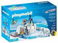 Playmobil 9056 Arctic Explorers with Polar Bears Construction Playset