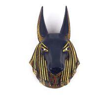 ANUBIS WALL SCULPTURE EGYPTIAN GOD PLAQUE JACKAL BUST ORNAMENT STATUE