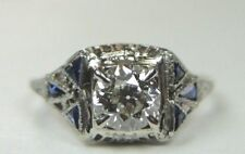 Gold Filigree Engagement Ring Egl Usa Antique Art Deco Vintage Diamond 18K White