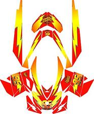 SNOWMOBILE SKI DOO WRAP KIT STICKER DECAL REV,XP, XR,XS,XM 03-16 LMAC V1 TUNNELS