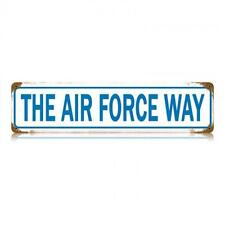 Military The Air Force Metal Sign Man Cave Garage Shop Barn Club Shed Den  V447