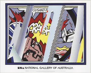 ROY LICHTENSTEIN Reflections on Crash 23.25 x 29 Poster 2013 Pop Art Multicolor,