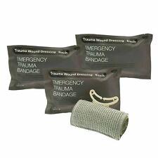 "3pcs 6"" Trauma Bandage Emergency Israeli Style Battle Wound Dressing First Aid"
