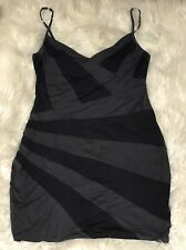 Kookai Dress Size 2 Stretchy Grey Fitted Ladies Clothing Womans Pre Loved