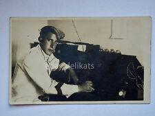 Militare radio marconista vecchia cartolina San Pietro del Carso Slovenia