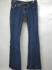 """WOMENS TRUE RELIGION """"JOEY"""" JEANS, TWISTED FLARE LEGS, SIZE 26, MADE IN THE USA!"""