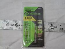 (1) NEW Greenlee DTAP8-32 Drill Tap Countersink Quick Release Bit NC (pkg)