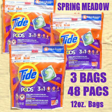 3 TIDE PODS 3 in 1 Laundry Detergent 16 Pacs 12oz. Spring Meadow - NEW & Sealed
