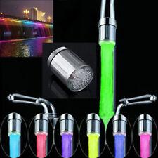 0000 Elegant LED Water Faucet Light 7 Colors Changing Tap Head Kitchen Tap TE