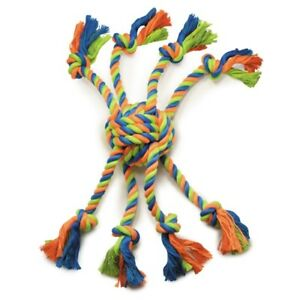 """Rope Toys For Dogs Mighty Bright Colored Crazy Eight 16"""" Long Tough Chew Ball"""