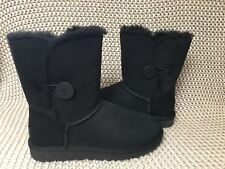 UGG Classic Short Bailey Button II Water-resistant Black Boots Size US 5 Womens