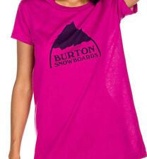 Burton Mountain Logo Short Sleeve Tee (M) Tart
