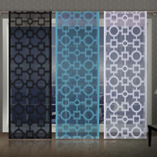 Single Net Window Panel Geometric Trellis Lattice Curtain Fly Screen Slot top