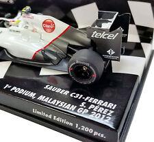 MINICHAMPS 1/43 2012 SAUBER F1 TEAM C31 FERRARI SERGIO PEREZ PODIUM 410120115