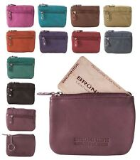 Brunhide Genuine 100% Soft Leather Coin Purse With Key Ring # 211-300